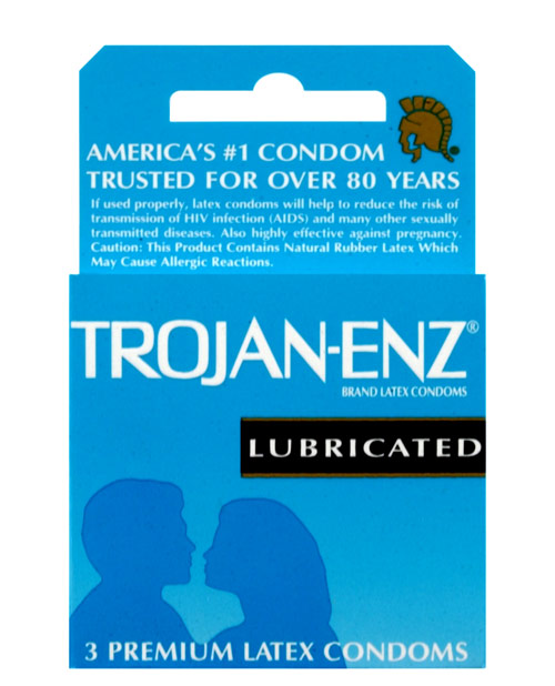Trojan Enz Lubricated 3pk