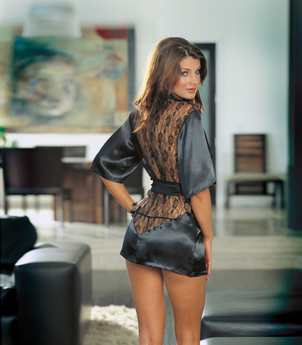 Lace Robe with g-string